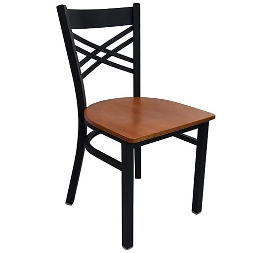 finest selection 547d5 f2ed4 Advantage Cross Back Restaurant Chairs With Cherry Wood Seat, 28 Pack  (RCXB-BFCW-28)