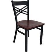 Advantage Cross Back Restaurant Chair - Mahogany Wood Seat (RCXB-BFMW-2)