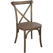 Advantage Light Brown X-back Chair, 28 Pack (X-back-LB-EC)