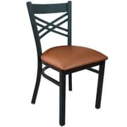 Advantage Cross Back Restaurant Chair - Mocha Padded (RCXB-BFMV-2)
