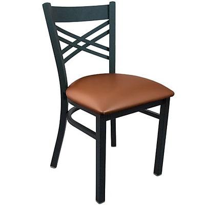 Advantage Cross Back Restaurant Chair - Mocha Padded (RCXB-BFMV-2)