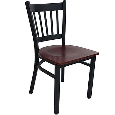 Advantage Vertical Slat Back Restaurant Chair - Mahogany Wood Seat (RCVB-BFMW-2)