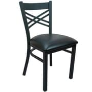 Advantage Cross Back Restaurant Chair - Black Padded (RCXB-BFBV-2)