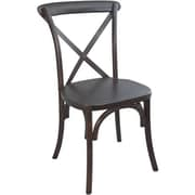 Advantage Walnut X-back Chair, 14 Pack (X-back-W-EC)