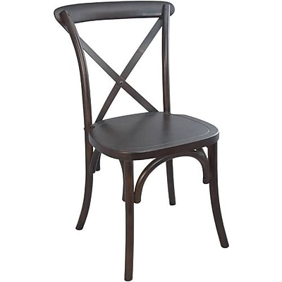 Advantage Walnut X-back Chair, 28 Pack (X-back-W-EC)