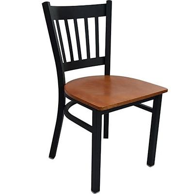 Advantage Vertical Slat Back Restaurant Chair - Cherry Wood Seat (RCVB-BFCW-2)
