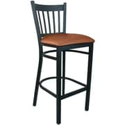 Advantage Mocha Vinyl Vertical Back Bar Stool [BSVB-BFMV-28]