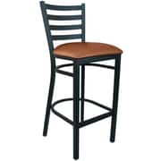 Advantage Mocha Vinyl Ladder Back Bar Stool [BSLB-BFMV-28]