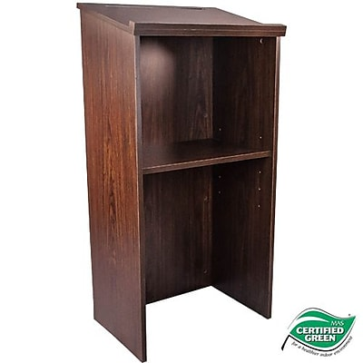 Advantage Walnut Wood Classroom Lectern (LECTERN-WALNUT)