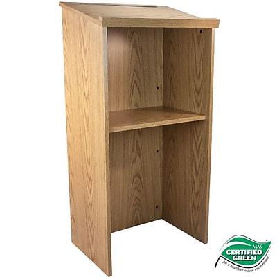 Advantage Oak Wood Classroom Lectern (LECTERN-OAK)