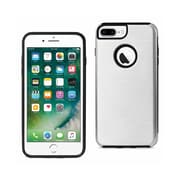 iPhone 7 Plus Hybrid Dual Layer Metal Brushed Texture Case -Silver