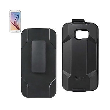 Samsung Galaxy S6 Hybrid Heavy Duty Holster Combo Case - Black