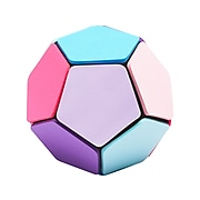 """Poppin 1"""" Removable Notes Ball, Assorted Pastels, 25 Sheets/Pad, 12 Pads/Ball (104898)"""