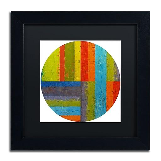 """Trademark Fine Art Michelle Calkins 'Round' 11"""" x 11"""" Matted Framed (190836076260)"""