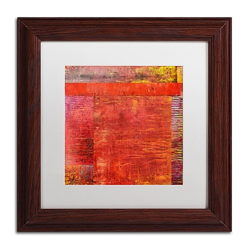 "Trademark Fine Art Michelle Calkins 'Essence of Red' 11"" x 11"" Matted Framed (190836071463)"
