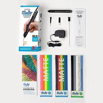 3Doodler Create+ Essential 3D Printing Pen Set, Onyx Black (8CPSBKUS3E)