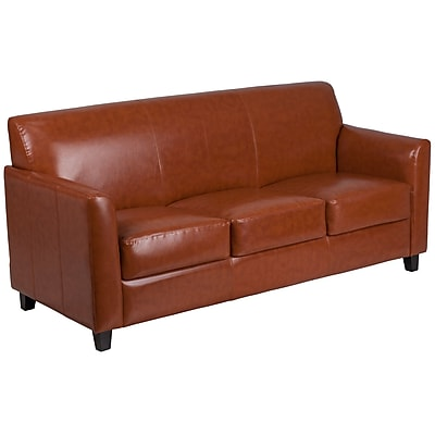 HERCULES Diplomat Series Cognac Leather Sofa (BT8273CG)