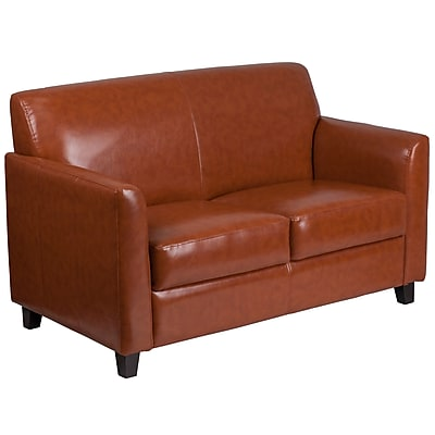 HERCULES Diplomat Series Cognac Leather Loveseat (BT8272CG)