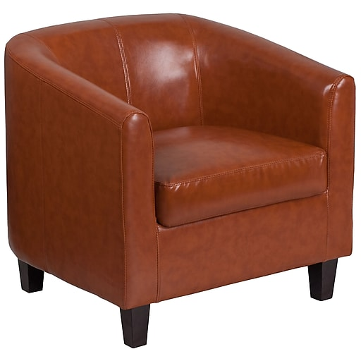 Cognac Leather Office Guest Chair Reception Https Www Staples 3p S7 Is