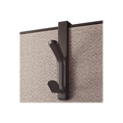 Universal, Plastic Coat Hook, Charcoal (UNV08607)