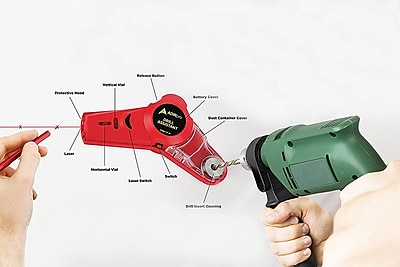 AdirPro Drill Buddy Cordless Dust Collector with Laser Level, Bubble Vial (717-01)