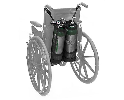 AdirMed Double Oxygen Bag for Wheelchair, D & E Cylinders (995-OX-DDE-W)
