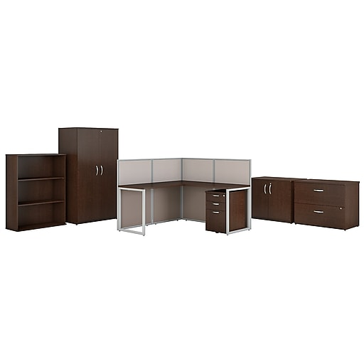 Bush Business Furniture Easy Office 60w L Shaped Cubicle Desk With