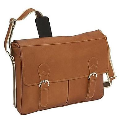 Piel Leather Classic Expandable Messenger Bag -