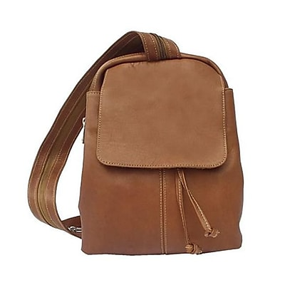 Piel Leather Small Drawstring Backpack - Saddle(PIEL1345)