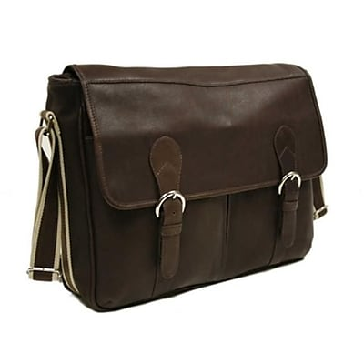 Piel Leather Classic Expandable Messenger Bag -