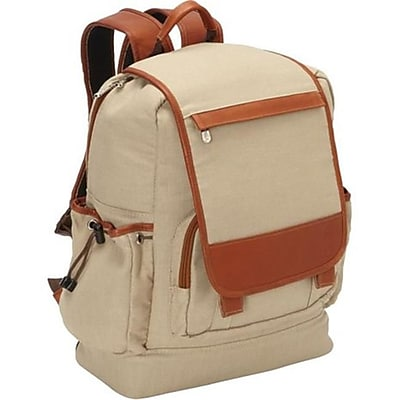 Piel Leather Multi - Pocket Travelers Backpack