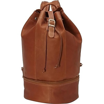 Piel Leather Navy Drawstring Backpack - Saddle(PIEL09356)