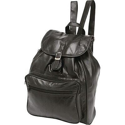 BNFUSA Black Lambskin Leather Backpack With Interior