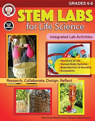STEM Labs for Life Science, Grades 6 - 8 Paperback (404261)