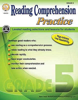 Reading Comprehension Practice, Grade 5 Paperback (404255)