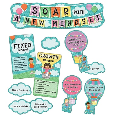 Carson-Dellosa Soar With A New Mindset Mini Bulletin Board Set Up and Away (110360)