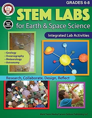 STEM Labs for Earth & Space Science, Grades 6 - 8 Paperback (404260)