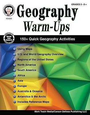 Geography Warm-Ups, Grades 5 - 8 Paperback (404263)