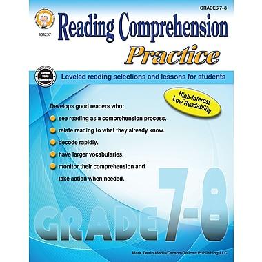 Reading Comprehension Practice, Grades 7 - 8 Paperback (404257)