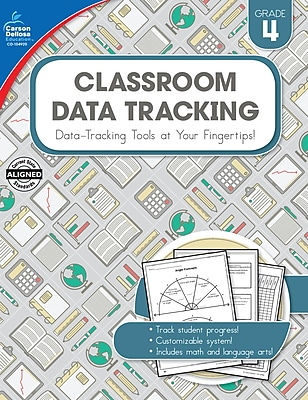 Carson-Dellosa Resource Book Classroom Data Tracking Grade 4 160 pages (104920)