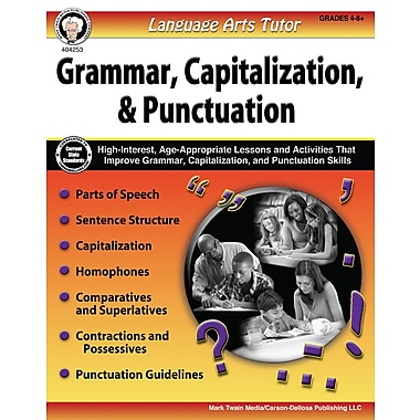 Language Arts Tutor: Grammar, Capitalization, and Punctuation, Grades 4 - 8 Paperback (404253)
