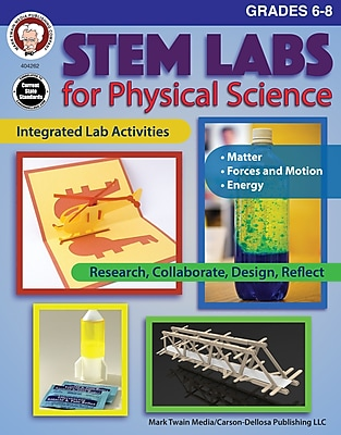 STEM Labs for Physical Science, Grades 6 - 8 Paperback (404262)