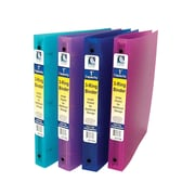"""C-Line® 1"""" capacity, 3-Ring Binder, assorted colors, bundle of 6 (CLI31710)"""