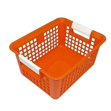 Romanoff Book Basket, Orange, Set of 3 (ROM74909)