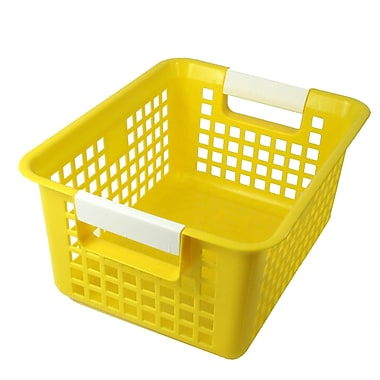 Romanoff Book Basket, Yellow, Set of 3 (ROM74903)