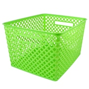 Romanoff Woven Basket, Large, Lime, 1 Each (ROM74215)