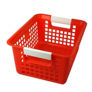Romanoff Book Basket, Red, Set of 3 (ROM74902)