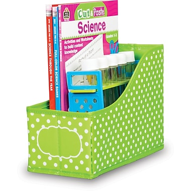 Teacher Created Resource Lime Polka Dots Book Bin (TCR20785)
