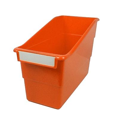 Romanoff Shelf File with Label Holder, Standard, Orange, Set of 3 (ROM77209)