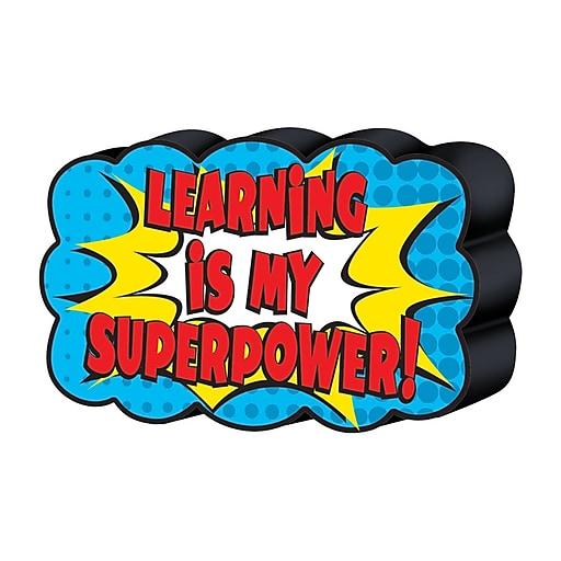 Teacher Created Resources Superhero Magnetic Whiteboard Eraser, bundle of 6 (TCR77288)